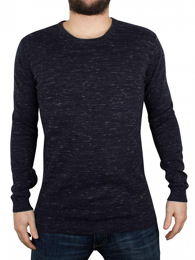 Minimum Navy Blazer Melange Davin Melange Knit