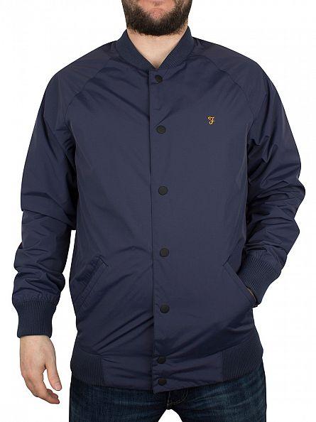 Farah Vintage Ink Blue Bellinger Poppers Jacket