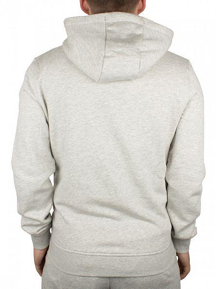 Lyle & Scott Light Grey Marl Logo Zip Through Hoodie