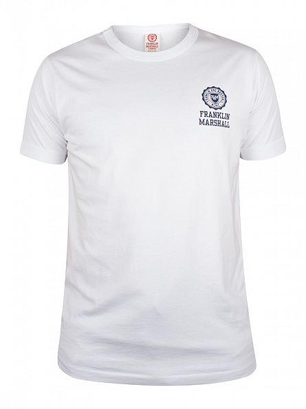 Franklin & Marshall White Left Chest Logo T-Shirt