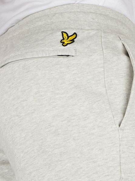 Lyle & Scott Light Grey Marl Slim Logo Sweat Joggers