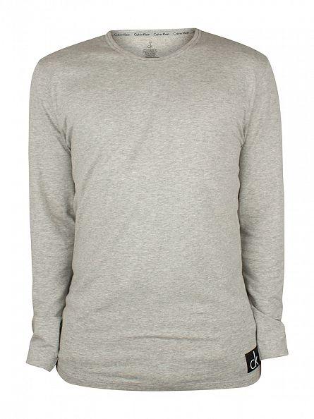 Calvin Klein Grey Heather Longsleeved Pyjama T-Shirt