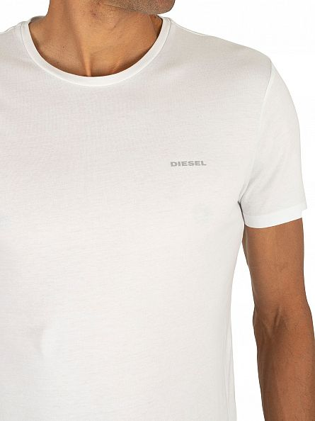 Diesel White 3 Pack Jake Plain Logo T-Shirts