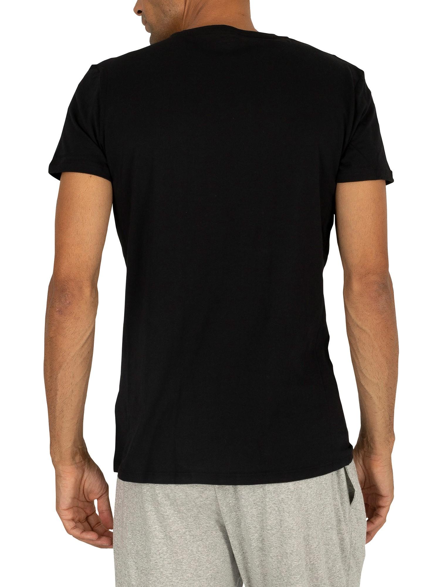 Diesel men 39 s 3 pack jake plain logo v neck t shirts for Mens diesel v neck t shirts