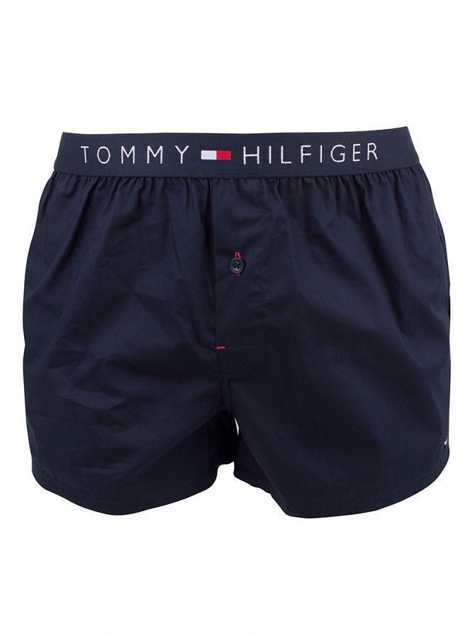 Tommy Hilfiger Navy Blazer Icon Cotton Woven Boxer