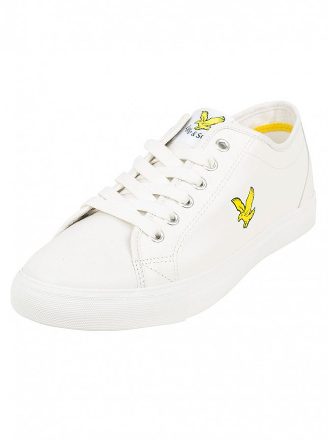 Lyle & Scott White Teviot Leather Trainers