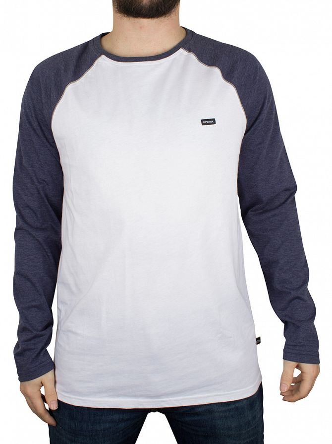 Animal White Longsleeved Logo Raglan T-Shirt