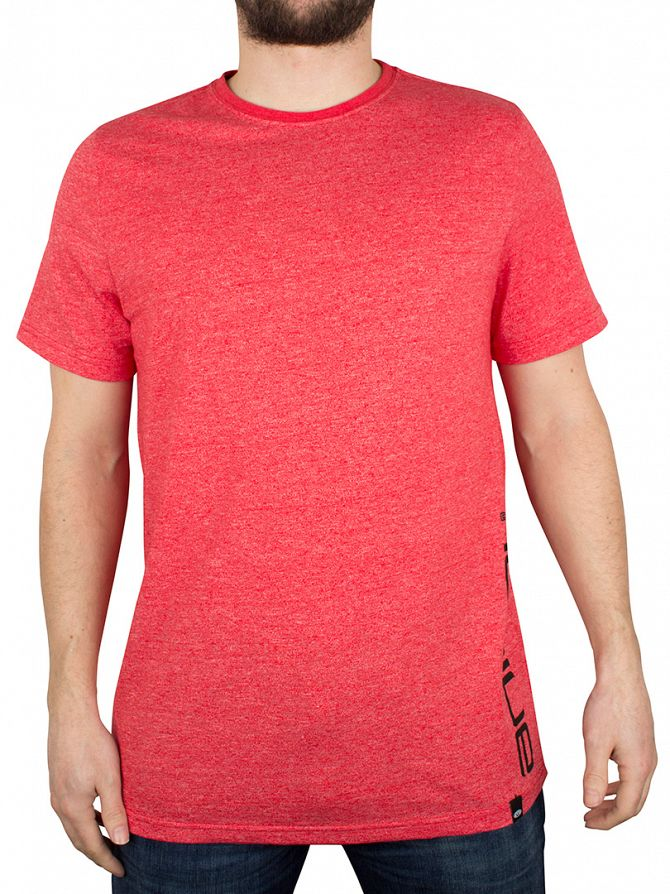 Animal Bright Red Marled Vertical Graphic T-Shirt