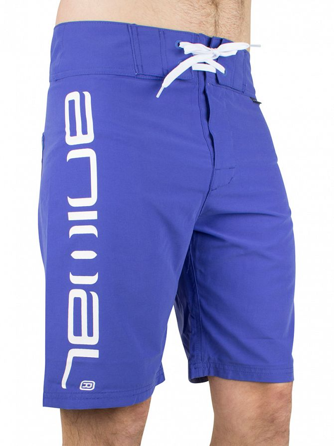 Animal Ultra Blue Fixed Waist Vertical Logo Board Swim Shorts