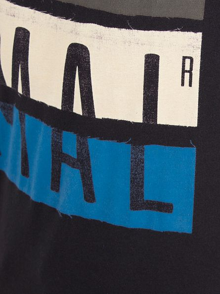 Animal Black Worn Graphic Logo T-Shirt