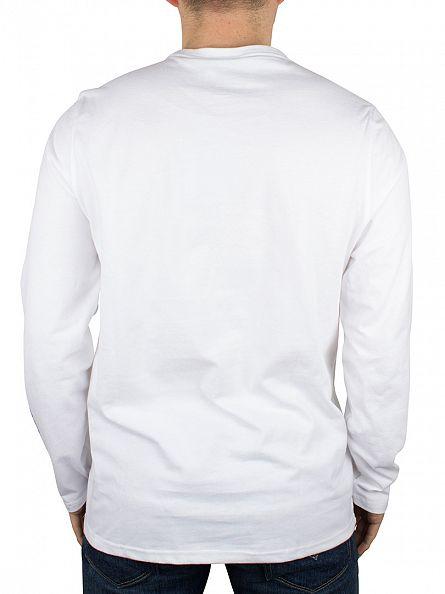 Animal White Longsleeved Logo T-Shirt