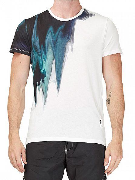 Religion White Melt Crew Neck T-Shirt