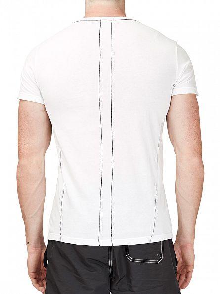 Religion White Skull Illusion Crew Neck T-Shirt