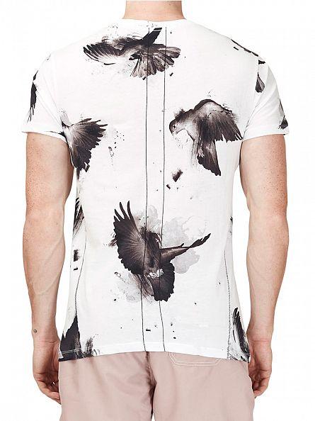 Religion White Doves Crew Neck T-Shirt