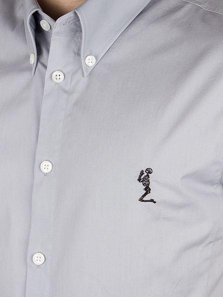 Religion Grey Chambray Otto Plain Shirt