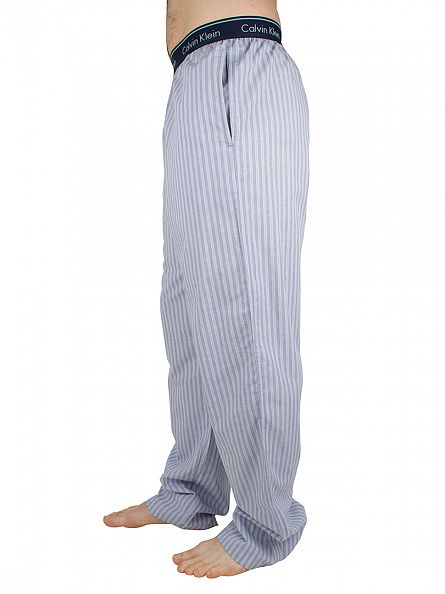 Calvin Klein Blue Shadow Logo Waistband Anthony Stripe Pyjama Bottoms