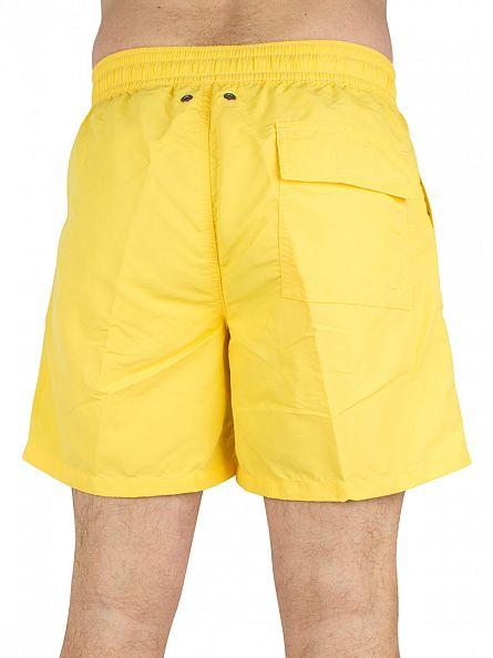 Polo Ralph Lauren Signal Yellow Hawaiian Logo Swim Shorts