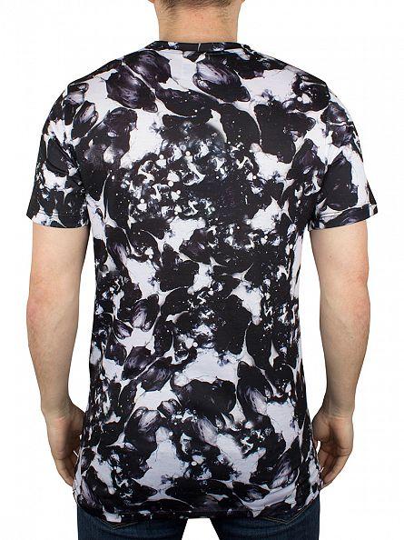 Hype White/Black Monotone All Over T-Shirt