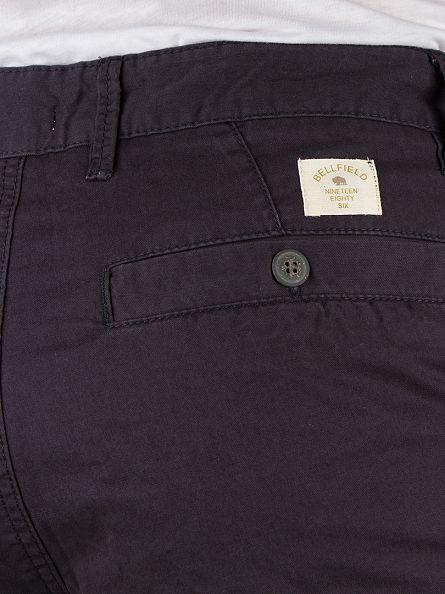 Bellfield Navy Basic Chino Shorts