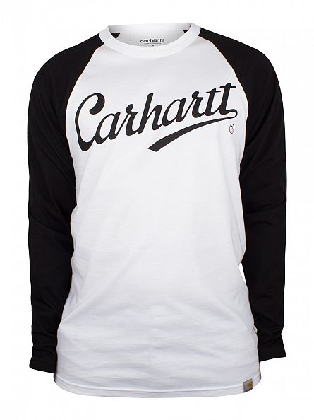 Carhartt WIP White/Black League Longsleeved T-Shirt