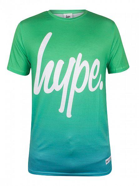Hype Green Fade Logo T-Shirt