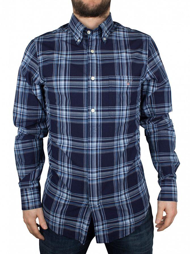 Gant Marine Telltail Madras Fitted Checked Shirt