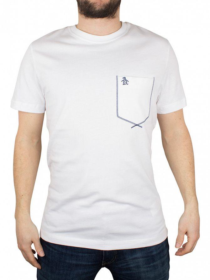 Original Penguin Bright White Flatlock Pocket Logo T-Shirt
