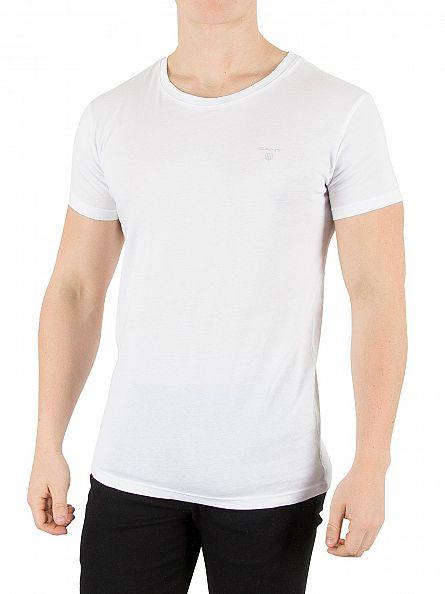 Gant White 2 Pack Logo T-Shirts
