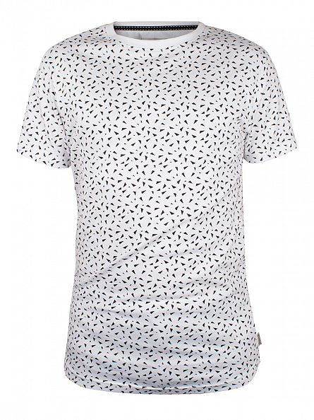 Bellfield White Exodus All Over Triangle T-Shirt