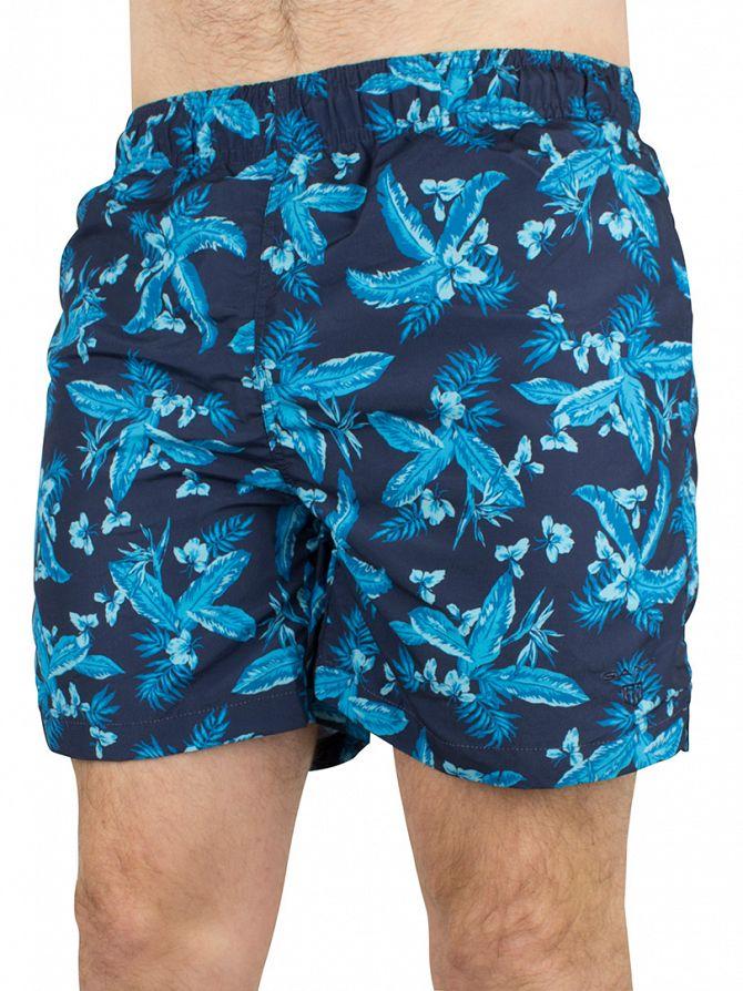 Gant Marine Classic Logo Floral Swim Shorts