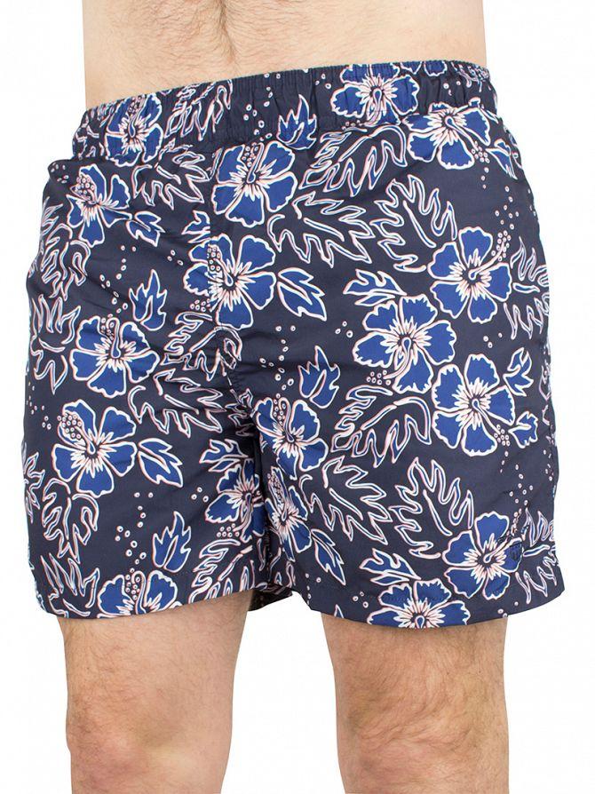 Gant Yale Blue Classic Logo Hawaii Swim Shorts