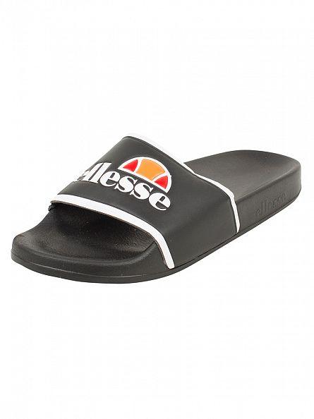 Ellesse Black/White Fillipo Logo Slider Flip Flops