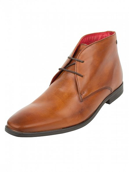 Base London Tan Washed Henry Mid Shoes