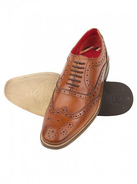 Base London Washed Tan Surrey Shoes