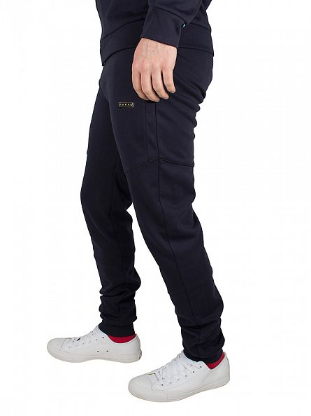Foray Navy Flash Mesh Logo Joggers