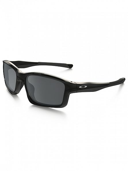 Oakley Polished Black/Black Iridium Chainlink Sunglasses