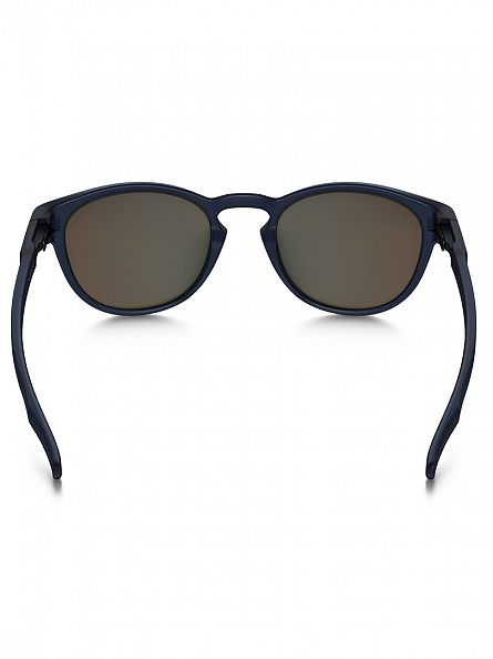 Oakley Matte Translucent Blue/Sapphire Iridium Latch Man Sunglasses