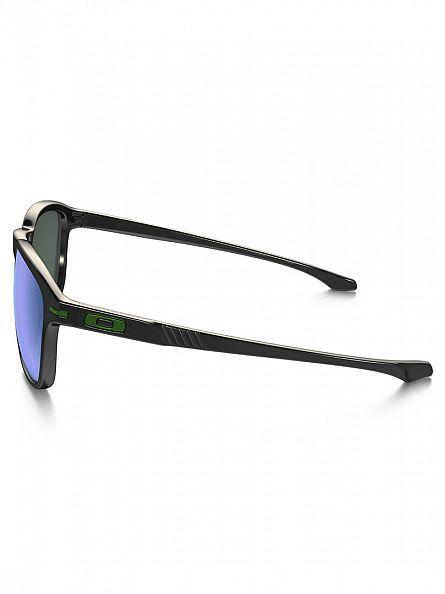 Oakley Black Ink/Jade Iridium Polarized Enduro Polarized Sunglasses