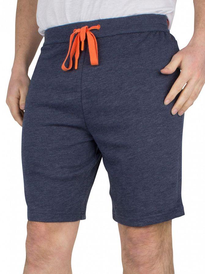 Calvin Klein Blue Shadow Logo Waistband Pyjama Shorts