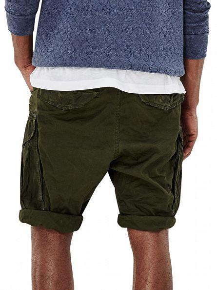 G-Star Sage/Bright Rovic Green Rovic Loose Fit 1/2 Cargo Shorts