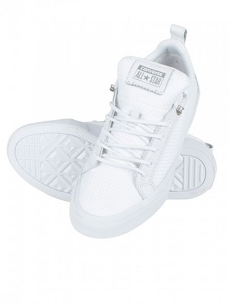 Converse White/White AS Fulton OX Weave Trainers