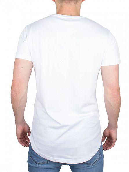 Bee Inspired White B33 Curved Hem Logo T-Shirt