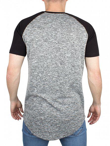 Bee Inspired Grey/Mouline/Black Appin Raglan Logo T-Shirt