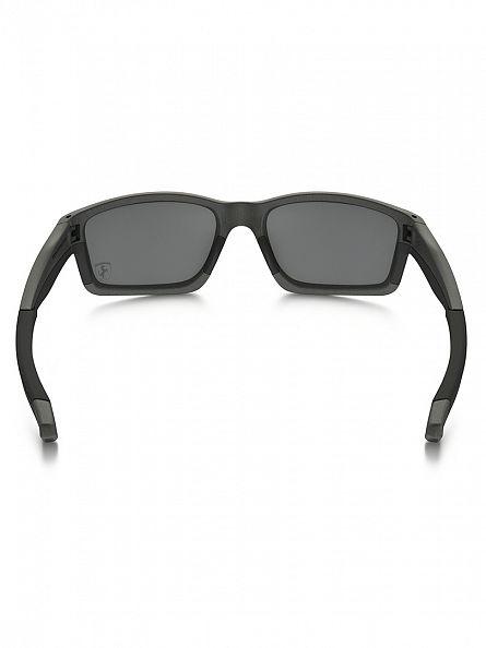 Oakley Matte Steel Ferrari Injected Man Sunglasses