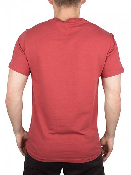 J Lindeberg Dust Red Silas Logo Cotton Jersey T-Shirt
