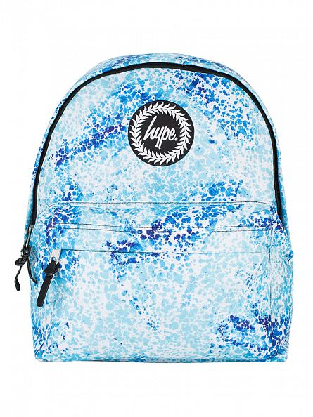 Hype Light Blue Badge Specs Logo Backpack