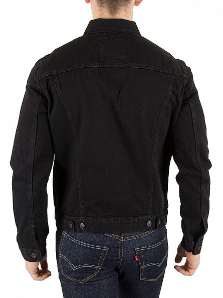 Levi's Black Berkman Trucker Jacket