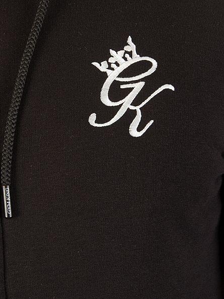 Gym King Black Core Logo Zip Hoodie