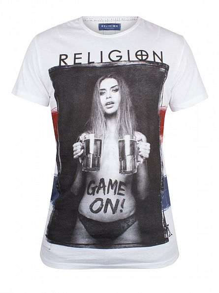Religion White Game On England Graphic T-Shirt