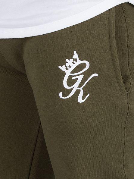 Gym King Khaki Core Logo Joggers
